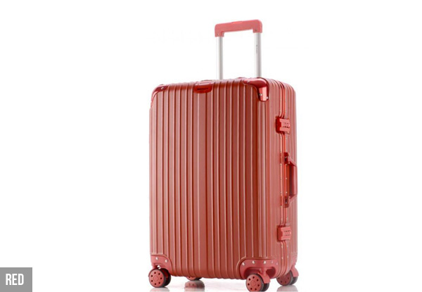 Aluminium Frame Rolling Suitcase - Two Sizes & Four Colours Available