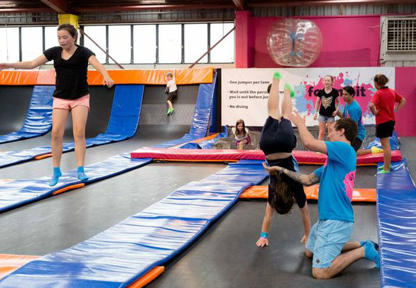 One-Hour Bounce Session for Two People - Options for Two Hour Session, Family Pass or Annual Pass - Two Locations