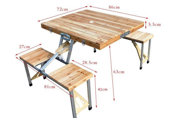 $75 for a Folding Picnic Table & Chair Set