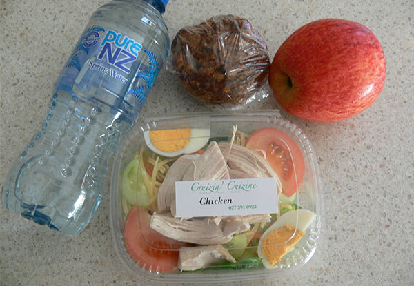 Healthy Packed Lunch incl. Delivery - Options for up to Five Packed Lunches Delivered Each Day