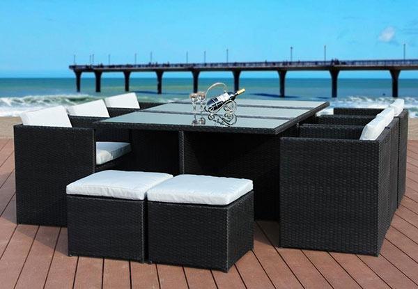 11 Piece Outdoor Dining Set • Grab e NZ