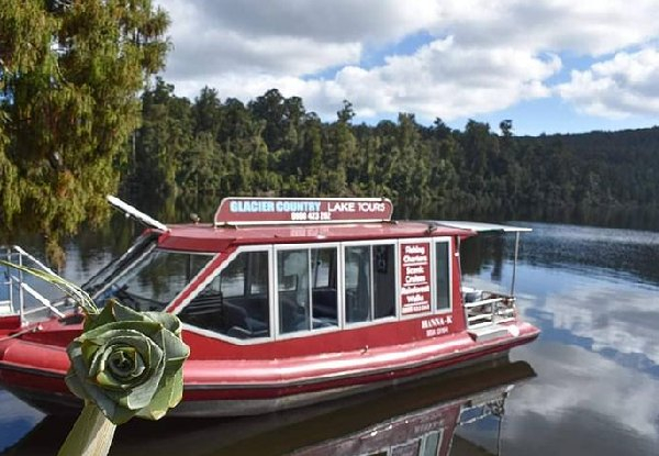 Franz Josef's Lake Mapourika Scenic Cruise for Two Peopole - Options for up to Six People