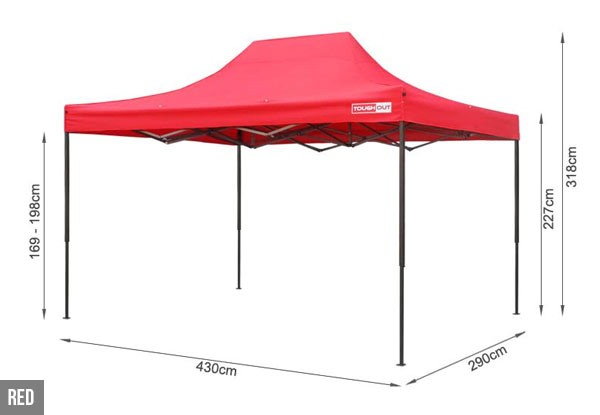Pre-Order a Large 3 x 4.5m ToughOut Gazebo with Three Side Walls - Available in Four Colours
