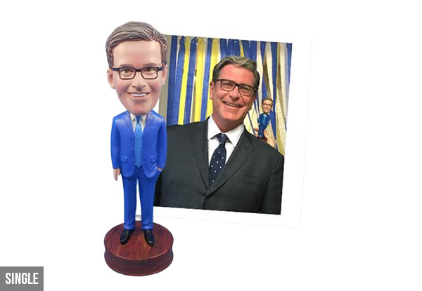 Custom Made Personalised Bobblehead - Options for Single, Couple or Family Sets