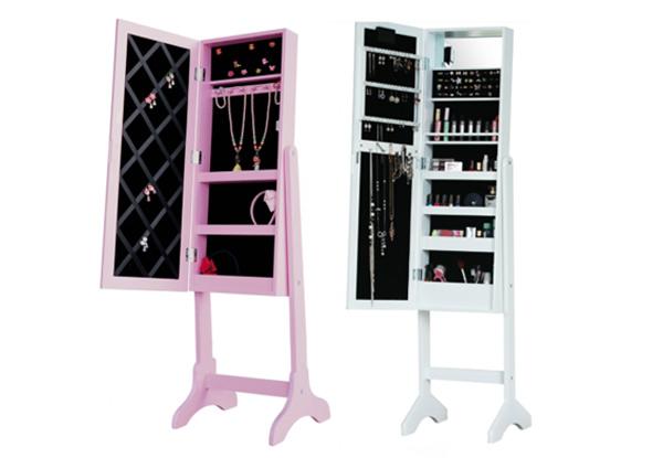Jewellery Cabinet Grabone Nz, Free Standing Jewellery Mirror Nz