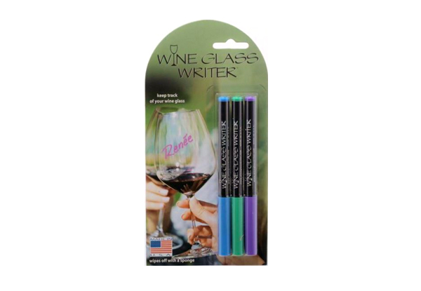 $15 for a Pack of Three Wine Glass Writer Pens