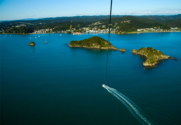 $69 for a Parasail Flight in Paihia or $115 for a Tandem Parasail Flight for Two People