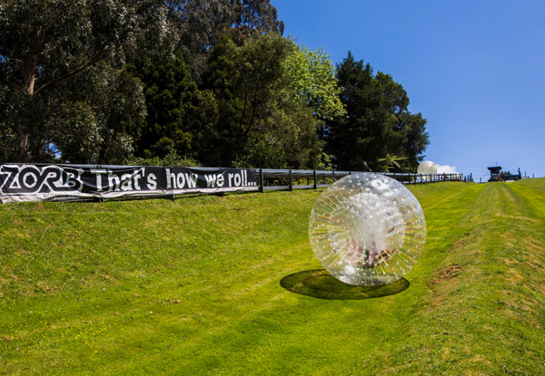 School Holiday Zorbing Special - One ZYDRO ZORB Ride for Ages Six Years & Over