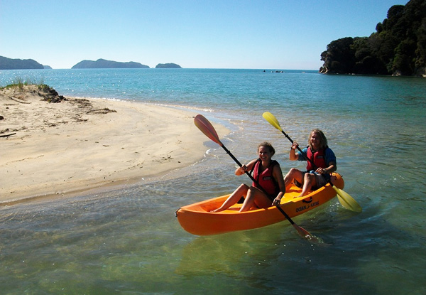 $38 for a Two-Hour Hire of a Double Sit-On Kayak or $19 for a Single Sit-On Kayak in the Abel Tasman National Park (value up to $80)