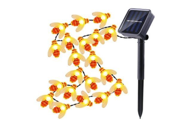 LED Honey Bee Solar Powered Garden Lights