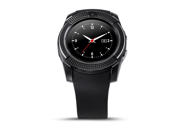 Smart Watch with Sim Slot & Bluetooth Connectivity for Android in Black with Free Metro Shipping