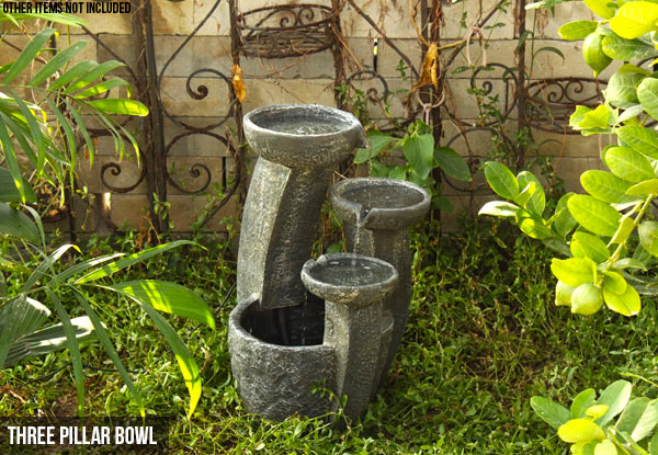 Outdoor Garden Water Feature with Solar Pump - Three Designs Available