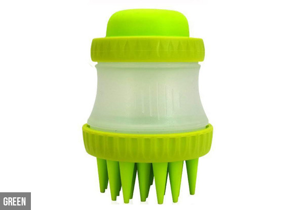 Pet Bath & Massage Brush - Three Colours Available with Free Delivery