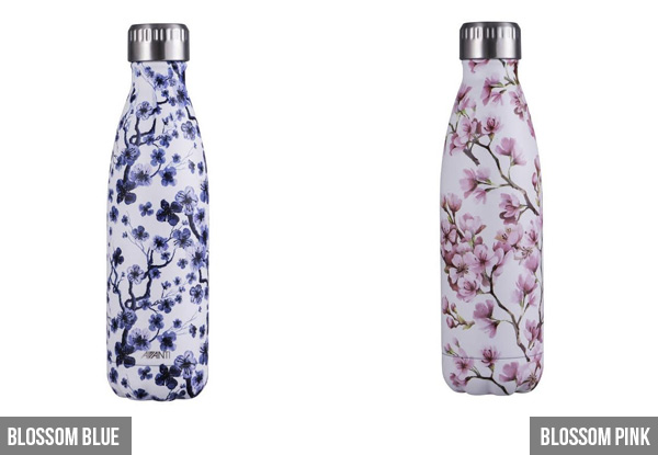 Avanti Stainless Steel Vacuum Twin Wall Insulated Bottle 500ml - 11 Styles Available