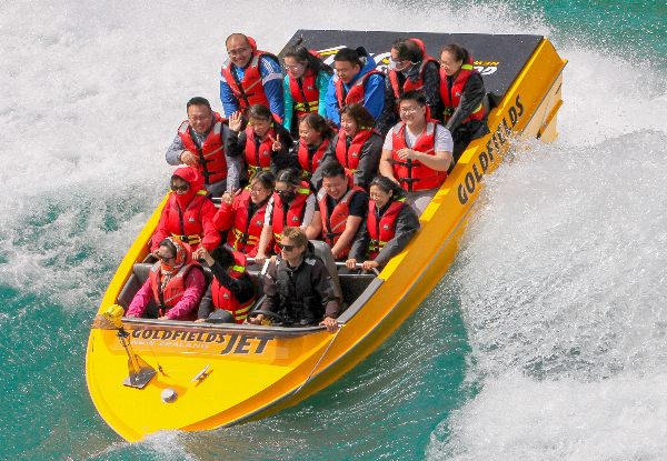 25-Minute Goldfields Jet Boat Experience on the Kawarau River for One - Options for Two or Four People