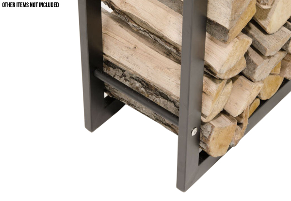 Freestanding Steel Firewood Log Rack