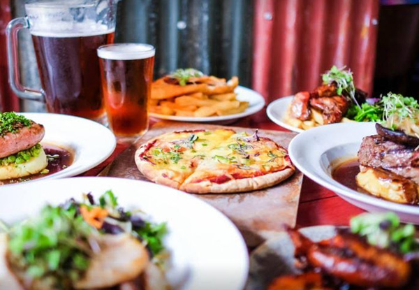 $60 Food & Beverage Voucher - Options for up to Eight People