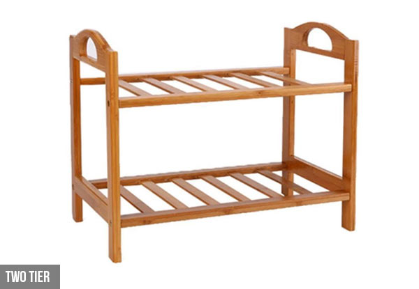 Natural Bamboo Shoe Storage Shelf  - Three Sizes Available