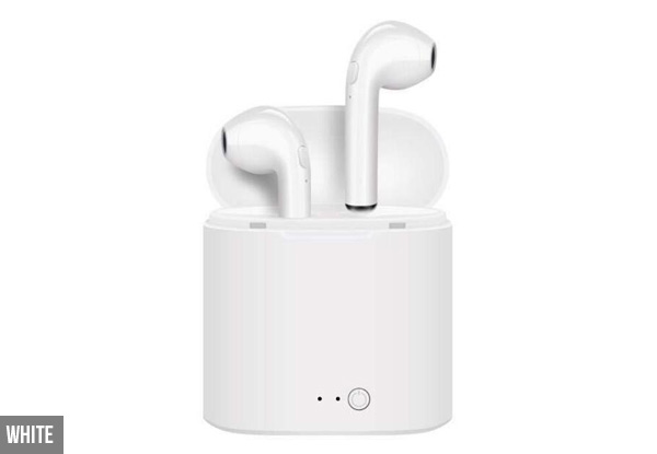 Wireless Earbuds With Charging Case Compatible with Apple - Four Colours Available with Free Delivery
