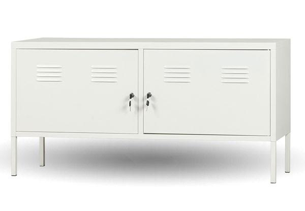 White Metal Tv Cabinet