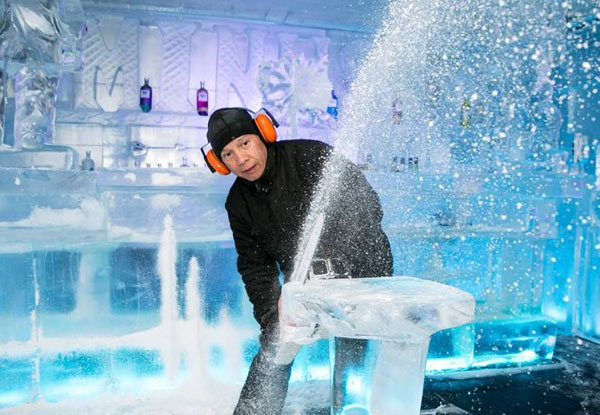 $16 for an Adult Ice Bar Entry incl. a Cocktail or Mocktail or $40 for a Family Entry (value up to $75)