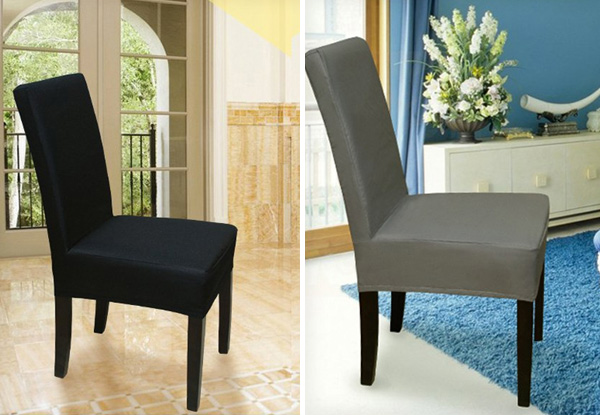 $18 For Two Stretch Dining Chair Covers U0026 Protector   Available In Four  Colours Incl. Free Nationwide Shipping
