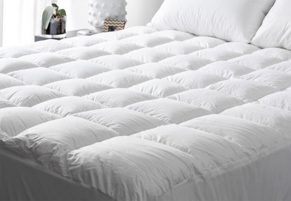 Luxury Hotel Grade Pillowtop Mattress Topper with High Thread Count in Pure Cotton Japara Fabric