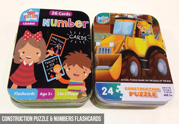 Numbers Flashcards - Options for Fairy or Construction Puzzle