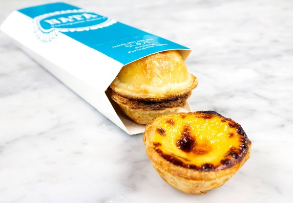 Box of Six Traditional Pastéis de Nata, Portuguese Iconic Custard Tarts - Options for 12 or 24