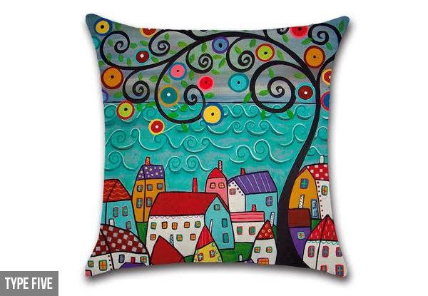 Art Deco Cushion Cover - Six Options Available