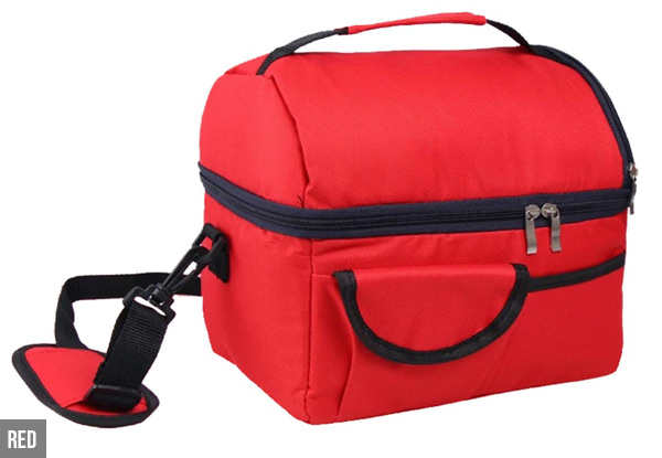 Large Insulated Lunch Tote with Adjustable Shoulder Strap - Six Colours Available with Free Delivery