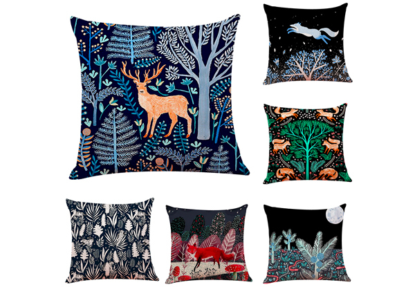 Night Forest Cushion Cover - Six Styles Available