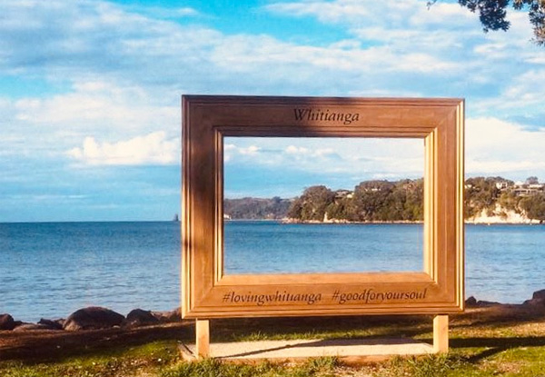 Two-Night Getaway to Gorgeous Whitianga for Two People incl. Late Checkout, Discounts on Casual Fine Dining Restaurant, Local Café, Pizza, Ice-Cream & Glass Bottom Boat - Option for Three People - Valid from 2 May 2021