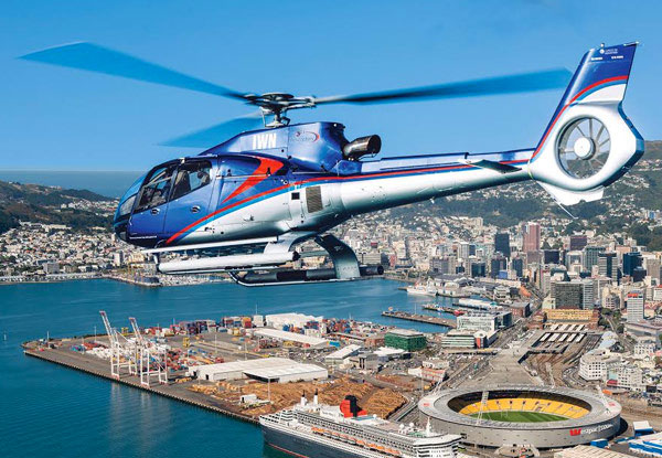 Scenic Helicopter Flight Package for Two incl. Any Brunch Meal & Glass of Champagne at Dockside & Wellington Helicopter's Scenic Flight around Wellington - Valid Weekends with Options for up to Six People