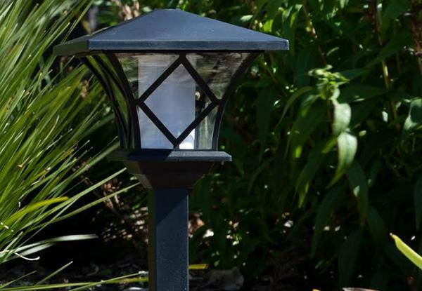 Flame Effect Solar Post Lights Grabone Nz
