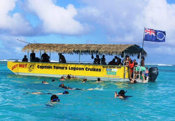 Rarotonga Snorkelling Lagoon Cruise for One incl. a Fresh Fish BBQ & Snorkelling Gear  - Options for Family Packages