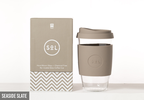 SoL Reusable 100% Plastic-Free Coffee Cup 470ml - Nine Colours Available