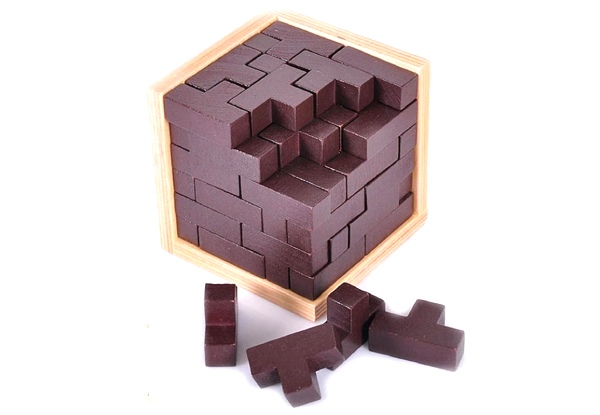 Wooden Brain Teaser Puzzle - Option for Two