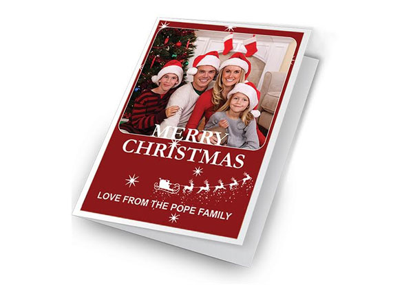 personalised photo christmas cards