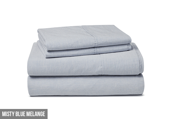 Canningvale Vintage Softwash Queen Sheet Set - Option for Super King Size & Seven Colours Available with Free Delivery