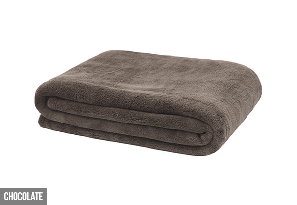 Bambury Microplush Throw Rugs - Four Colours Available