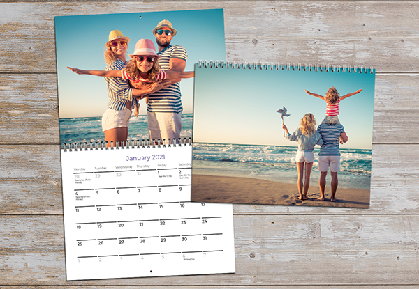 One A4 Flip Wall Calendar - Options for up to Ten Flip Wall Calendars & One Desk Calendar