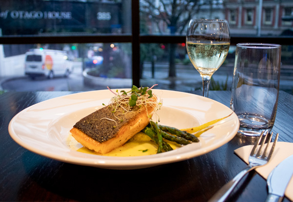 Two-Course Dining Experience incl. Glass of Wine for Two - Options for Three or Four People