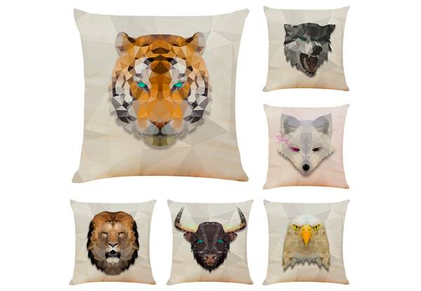 Mosaic Animal Print Cushion Cover - Six Styles Available