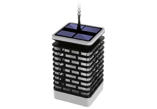 Solar Outdoor Flame Lantern - Option for Two