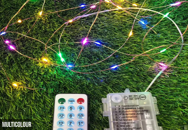 Music-Controlled LED String Lights with Remote Controller - Two Colours & Two Sizes Available