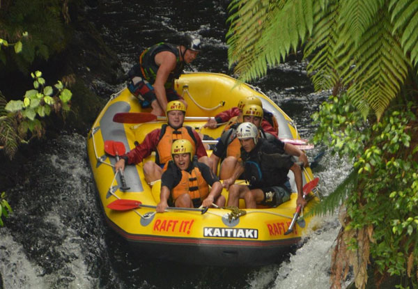 Kaituna River White Water Rafting Experience incl. Online Photo Pack