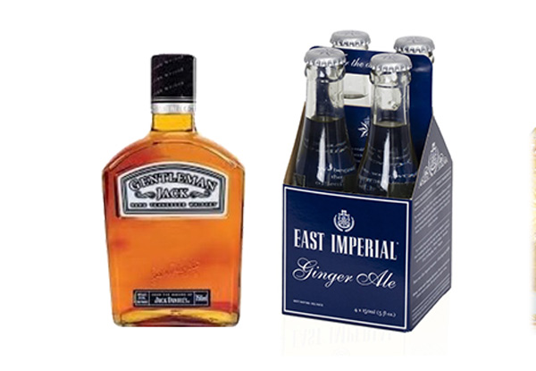 Gentleman Jack 200ml with Ginger Ale 4-Pack