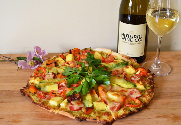 Gourmet Pizza of your Choice & Two Glasses of Wrights or Natural Wine Co Wine