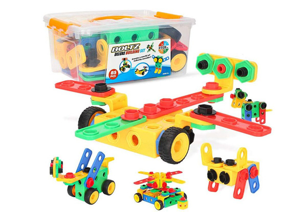85-Piece Educational Construction Engineering Building Blocks Set